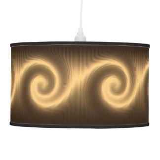 Golden spiral texture pendant lamp