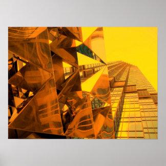 Golden Staircase Poster