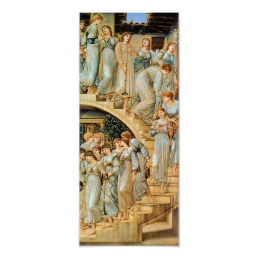 Golden Stairs by Edward Burne Print