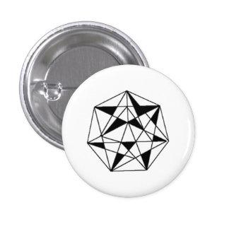 Golden star 1 inch round button