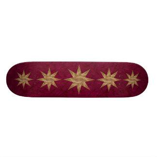 Golden Star Abstract Art Skate Board Decks