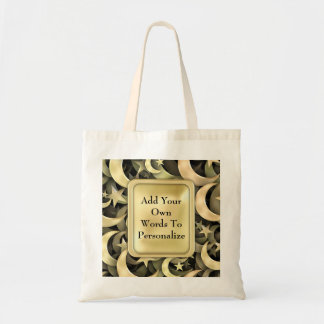Golden Star and Crescent Tote Bag