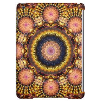 Golden Star Burst Mandala Case For iPad Air