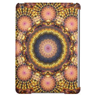 Golden Star Burst Mandala iPad Air Cover