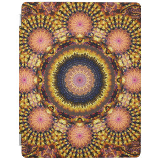 Golden Star Burst Mandala iPad Cover