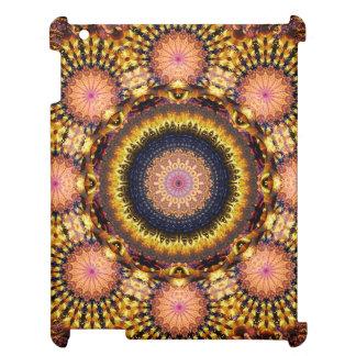Golden Star Burst Mandala iPad Covers