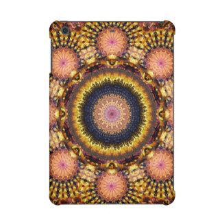 Golden Star Burst Mandala iPad Mini Case
