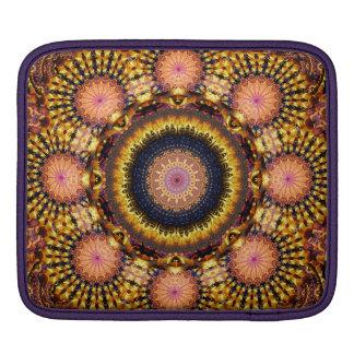 Golden Star Burst Mandala iPad Sleeve