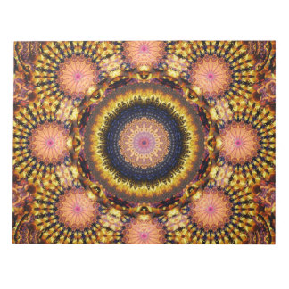 Golden Star Burst Mandala Notepad