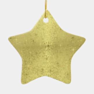 Golden Star Ceramic Ornament