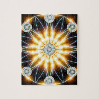 Golden Star Mandala Puzzle