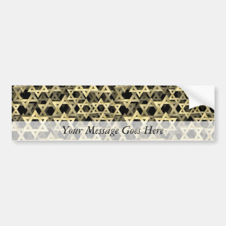 Golden Star Of David Bumper Sticker