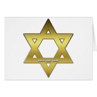Golden Star of David Card