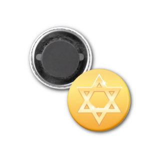 Golden star of David magnet