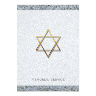 Golden Star of David Stone 1 Memorial Service Card