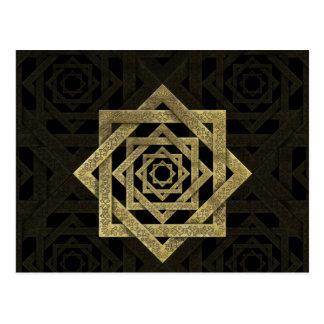 Golden Star of Lakshmi - Ashthalakshmi Postcard