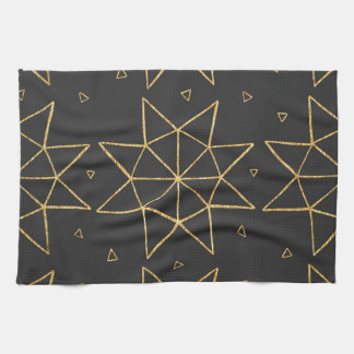 Golden Star Wheels Kitchen Towel