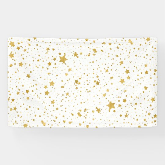 Golden Stars2 -Pure White- Banner