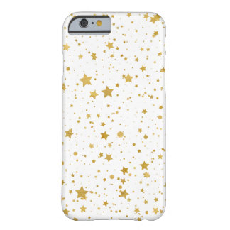 Golden Stars2 -Pure White- Barely There iPhone 6 Case