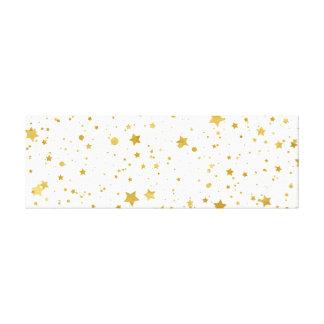 Golden Stars2 -Pure White- Canvas Print