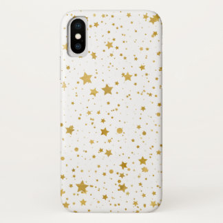 Golden Stars2 -Pure White- Case-Mate iPhone Case