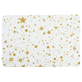 Golden Stars2 -Pure White- Floor Mat