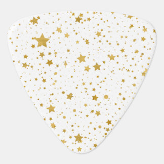 Golden Stars2 -Pure White- Guitar Pick