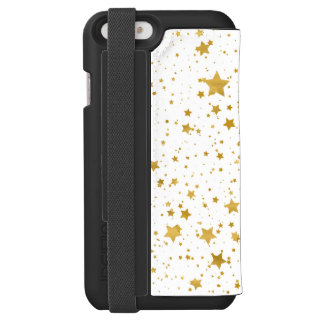 Golden Stars2 -Pure White- Incipio Watson™ iPhone 6 Wallet Case