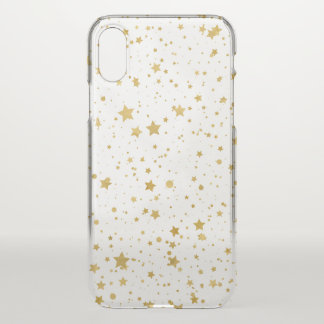 Golden Stars2 -Pure White- iPhone X Case