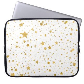 Golden Stars2 -Pure White- Laptop Sleeve