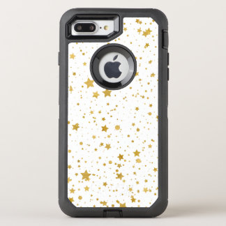 Golden Stars2 -Pure White- OtterBox Defender iPhone 8 Plus/7 Plus Case