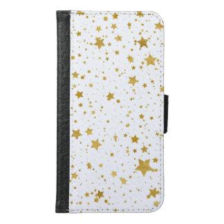 Golden Stars2 -Pure White- Samsung Galaxy S6 Wallet Case