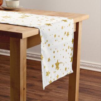 Golden Stars2 -Pure White- Short Table Runner