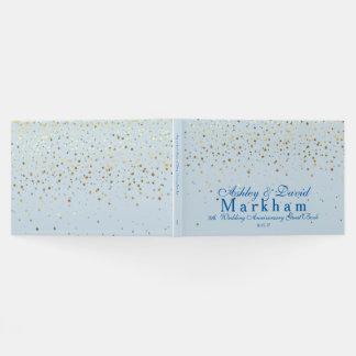 Golden Stars 5th Wedding Anniversary Guest Book