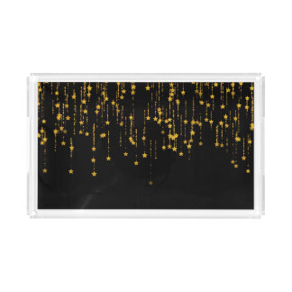 Golden Stars Acrylic Tray