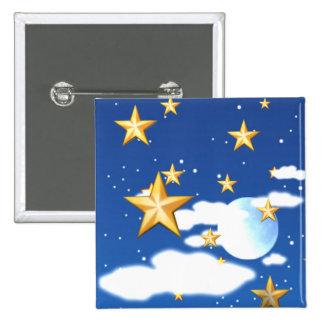 Golden Stars - Pinback Buttons