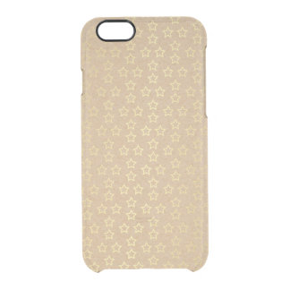 Golden Stars Custom iPhone Clearly™ Deflector Clear iPhone 6/6S Case