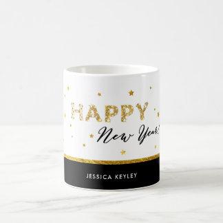 Golden Stars - Happy New Year Mug