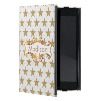 Golden stars iPad mini case