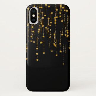 Golden Stars iPhone X Case