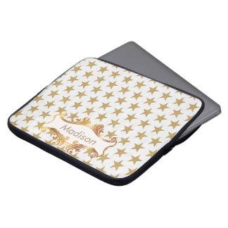 Golden stars laptop sleeve
