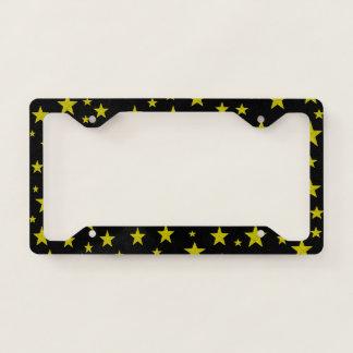 Golden Stars License Plate Frame