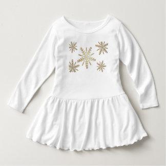 Golden stars on white dress