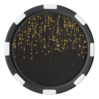 Golden Stars Poker Chips
