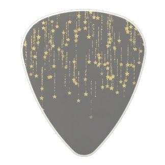 Golden Stars Polycarbonate Guitar Pick