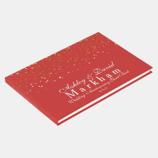 Golden Stars Silver Anniversary Guest Book