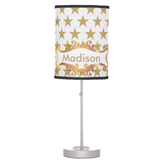 Golden stars table lamp
