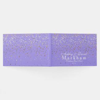 Golden Stars Wedding Guest Book-Lavender Guest Book