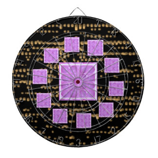 Golden Stary Nights n Purple  Pearls Dart Board