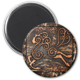 Golden Steed 2 Inch Round Magnet